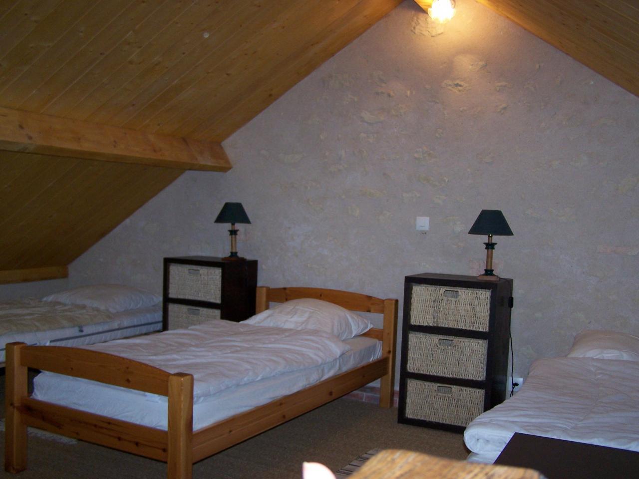 mezzanine 3 lits gite Touraine